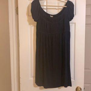 BOSTON PROPER Navy Babydoll Dress